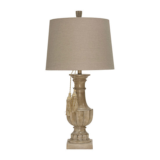 Stylecraft 16 W Beige Polyresin Table Lamp