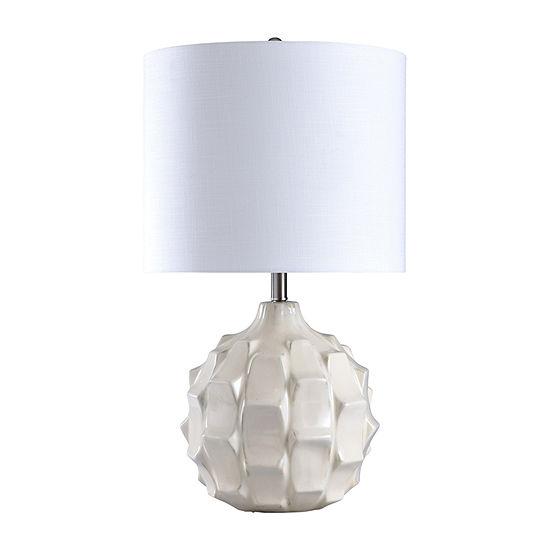 Stylecraft 16.5 W Na X Os White Ceramic Table Lamp