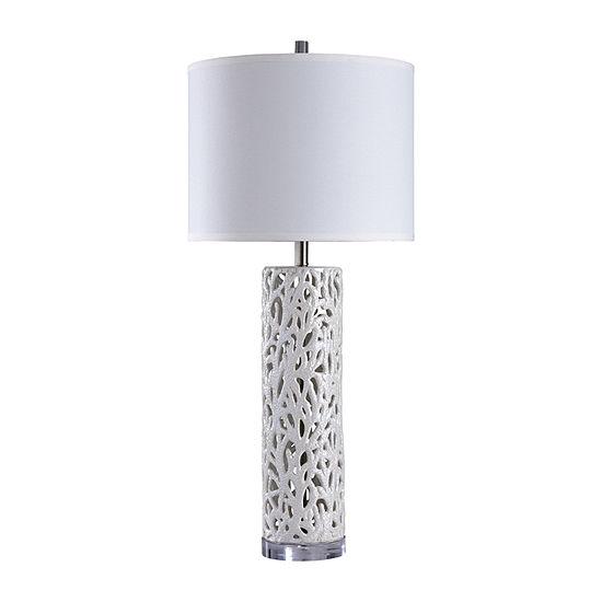 Stylecraft 17 W Anartia Silver Ceramic Table Lamp