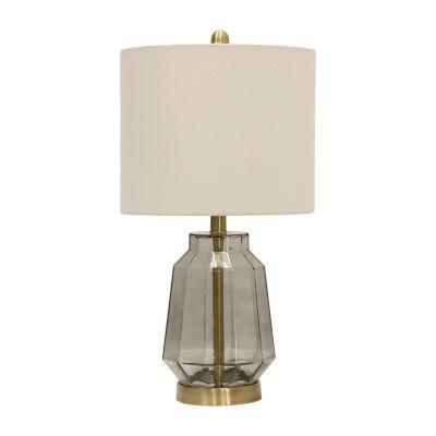 Stylecraft 12 W Grey Glass Table Lamp