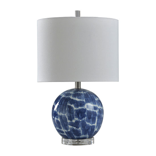 Stylecraft 13 W Blue And White Ceramic Table Lamp