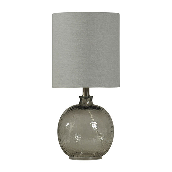 Stylecraft 9.5 W Smoke Glass Table Lamp