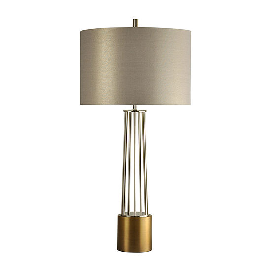 Stylecraft 19 W Old Brass Metal Table Lamp