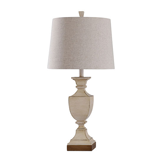 Stylecraft Linday 15 W Weathered Ivory Polyresin Table Lamp