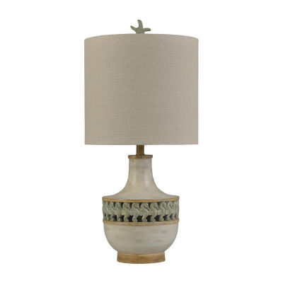 Stylecraft Trellis 14 W Trellis Blue Polyresin Table Lamp