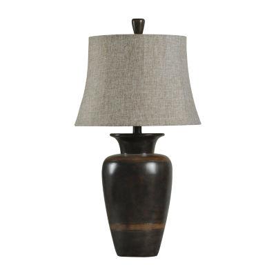 Stylecraft 18 W Dark Brown Polyresin Table Lamp