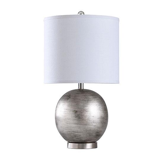 Stylecraft 14 W Champagne & Black Polyresin Table Lamp