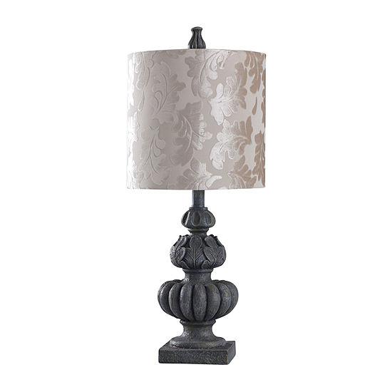 Stylecraft Rye Slate 11 W Rye Slate Polyresin Table Lamp