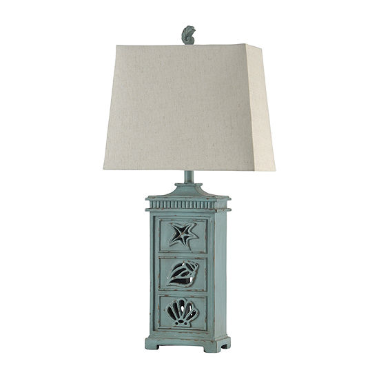 Stylecraft 16 W River Crest Polyresin Table Lamp