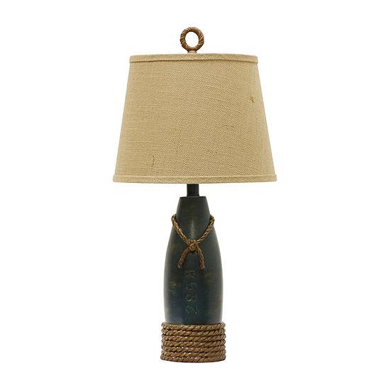 Stylecraft 13 W Sea Blue Polyresin Table Lamp