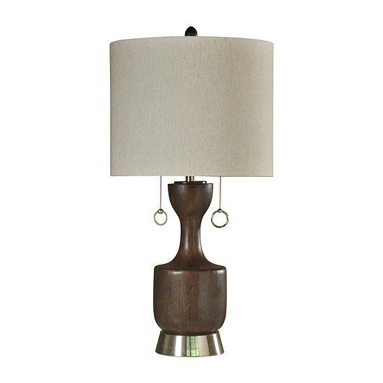 Stylecraft 17 W Walnut Ridge Polyresin Table Lamp