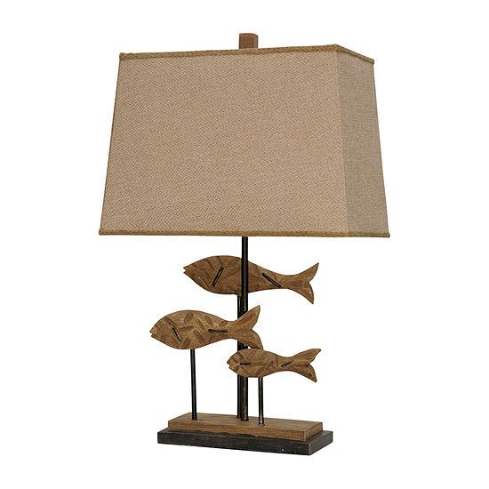 Stylecraft 18.5 W Brown Polyresin Table Lamp