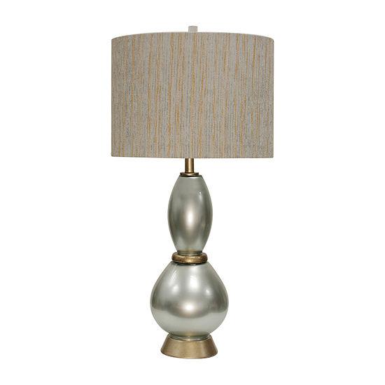 Stylecraft 17 W Gold & Silver Steel Table Lamp