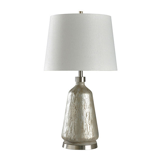 Stylecraft Carme 17 W Silver Steel Table Lamp