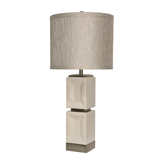 Stylecraft 16.5 W Bozeman White Ceramic Table Lamp