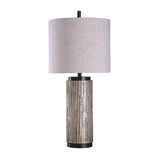 Stylecraft 16 W Black & Silver Steel Table Lamp