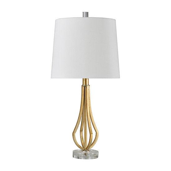 Stylecraft 11.5 W Antique Gold Steel Table Lamp