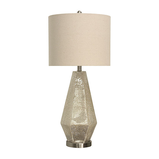 Stylecraft 14 W Crackled Mercury Glass Table Lamp
