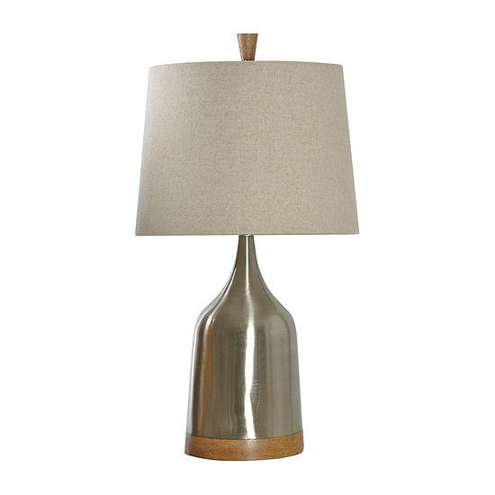 Stylecraft 16 W Steel Light Brown Steel Table Lamp