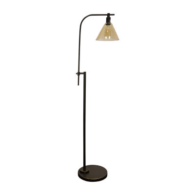 Stylecraft 12 W Madison Bronze Steel Floor Lamp