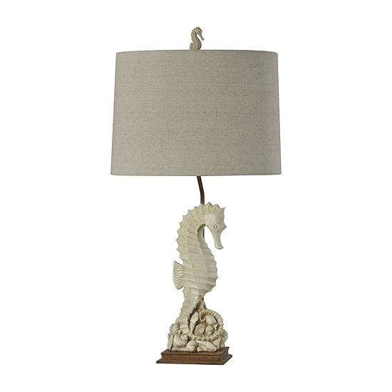 Stylecraft 16 W Beige With Ivory Polyresin Table Lamp
