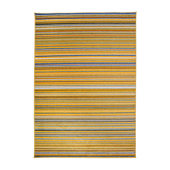 World Rug Gallery Contemporary Modern Stripes Rectangular Indoor Rugs