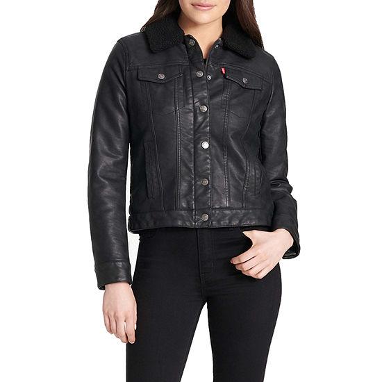 Levi's® Sherpa Faux Leather Trucker Jacket
