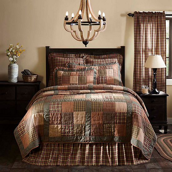 Ashton And Willow Cinnamon Plaid Reversible Quilt