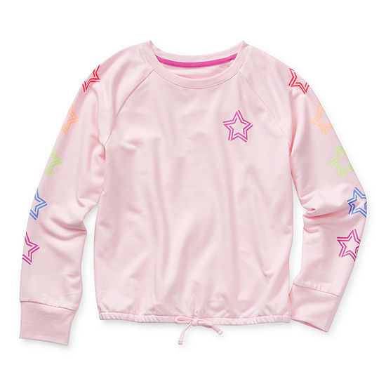 Xersion Little & Big Girls Crew Neck Long Sleeve Sweatshirt