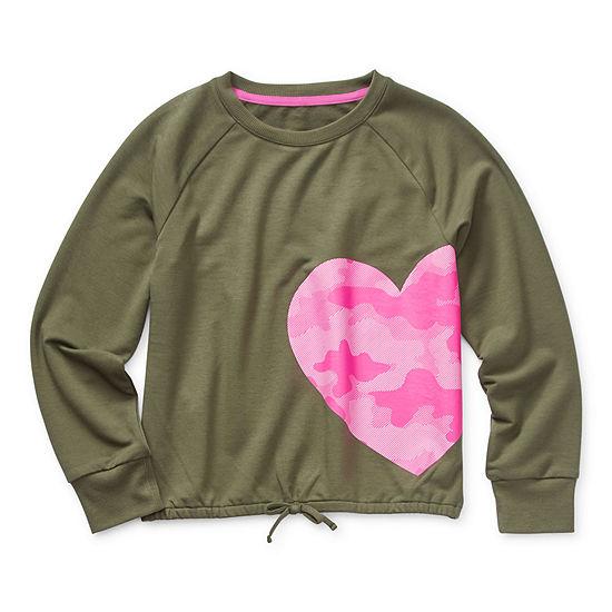 Xersion Little & Big Girls Crew Neck Long Sleeve Sweatshirt