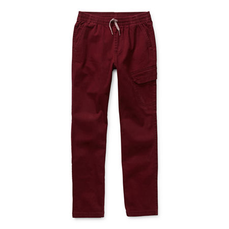Arizona Little & Big Boys Woven Tapered Jogger Pant, Large (14-16) , Red