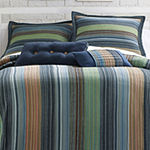 Retro Chic Cotton Striped Bedspread