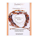 Footnotes Agate Bead Strand Bracelets