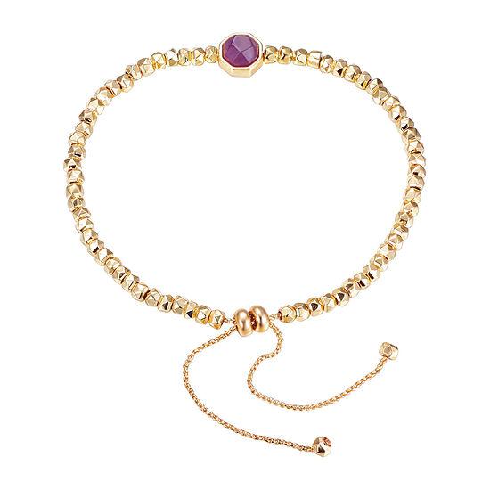Footnotes Amethyst 8 1/4 Inch Bead Bolo Bracelet