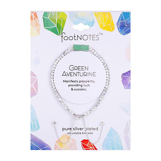 Footnotes Green Aventurine Healing Stone 8 1/4 Inch Bead Bolo Bracelet
