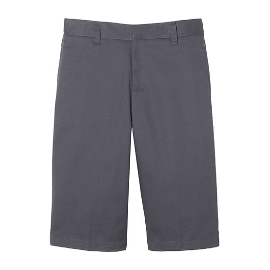 French Toast Flat Front Short Little & Big Boys Mid Rise Stretch Adjustable Waist Chino Short