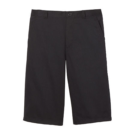 French Toast Little & Big Boys Flat Front Chino Short. 4 . Black