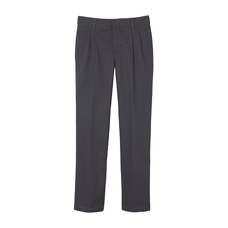 French Toast Little & Big Boys Pleated Flat Front Pant. 7 . Gray