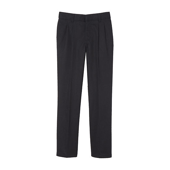 French Toast Boys Husky Relaxed Fit Pleated Flat Front Pant