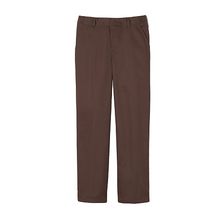 French Toast Little & Big Boys Flat Front Pant. 18 . Brown