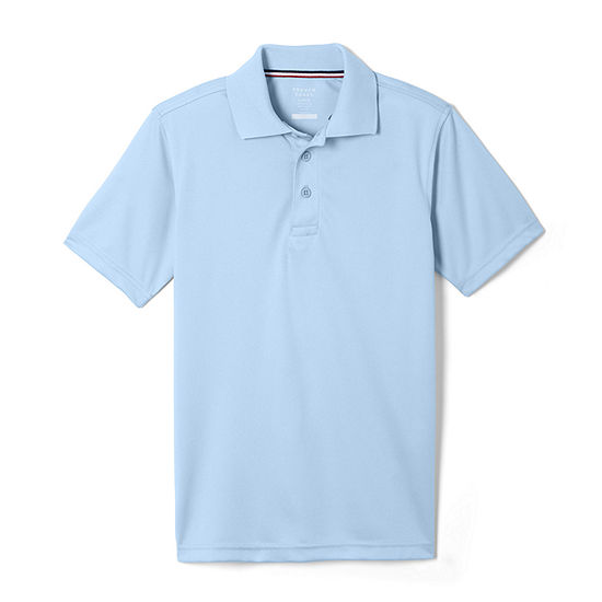 French Toast Boy's Short Sleeve Stretch Uniform Performance Polo