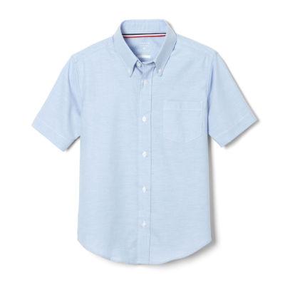 French Toast Little & Big Boys Point Collar Short Sleeve Wrinkle Resistant Dress Shirt