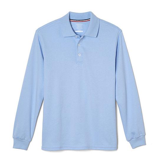 French Toast Boys Husky Long Sleeve Polo Shirt