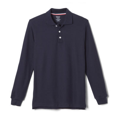 French Toast Little & Big Boys Long Sleeve Polo Shirt