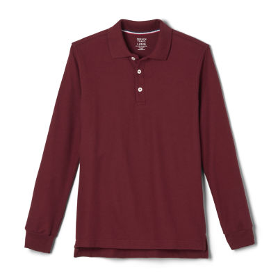 French Toast Little & Big Boys Long Sleeve Polo Shirt