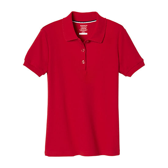 French Toast Girls Plus Short Sleeve Stretch Polo Shirt