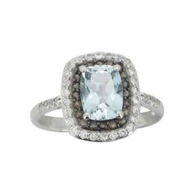 Aquamarine Smoky Quartz White Sapphire Ring Jcpenney