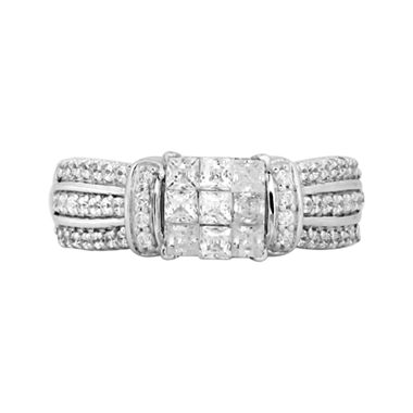 tw princess diamond engagement ring white gold - Wedding Rings Jcpenney