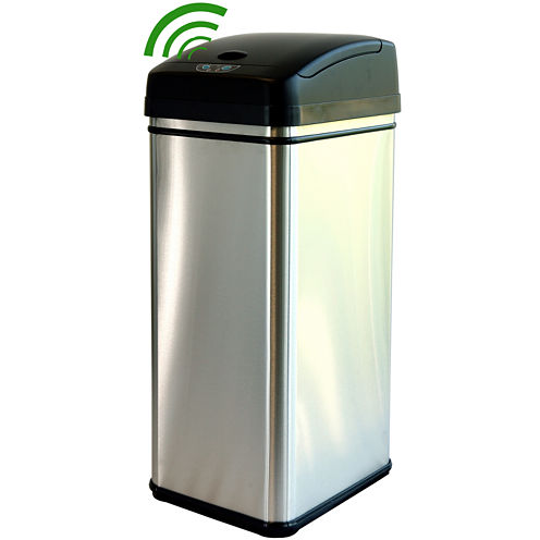 iTouchless® 13-Gal. Deodorizing Touchless Trash Can