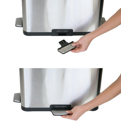 iTouchless® 13-Gal. Stainless Steel Step-Sensor Trash Can
